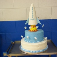 Out Of This World granddaughter's 4th grade moving up, graduation cake