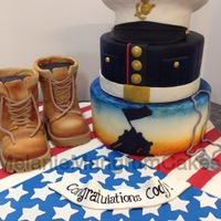Marine Graduation Cake   Cake was made for a high school graduate who is entering the Marines.
