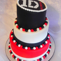 One Direction Topsy Turvy Cake This three tiered topsy turvy cake was for a 'One Direction' themed birthday party.The top tier had an edible print on...