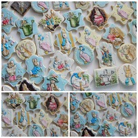 Beatrix Potter Baby Shower Cookies A Beatrix Potter themed baby shower.