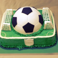 Football Field This cake for a boy loves football.