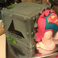 Superman Baby Shower This is my take on the baby in a gift box shower cakes I've been seeing. Dad loves superman and so it was a lot of fun to incorporate...
