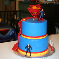 Superman Birthday Cake Stylized Superman cake.