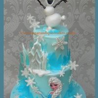 Frozen Themed Cake Frozen themed Cake I made sugar glass to look like the ice castle. I used my own recipe for Sugar Glass - you can find it in the 3rd...