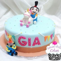 Unicorns I Love Them!   Despicable Me Cake featuring sweet Agnes and her beloved unicorn