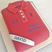 Ralph Lauren 21St Birthday Polo Shirt Cake I made this shirt cake for a friend's nephew's 21st birthday. Lemon drizzle cake with lemon buttercream filling&...