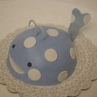 Whale Smash Cake First birthday smash cake to go with the nautical theme birthday cake.