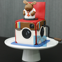 Mr. Moose Instagram Cake  I was honoured to be a part of a wonderful world wide collaboration in celebration of friendship, cake and social media. Each one of us...