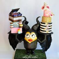 Malificent-Minion Cake Absolutely loved making this cake for my daughter. her two fav characters in one.