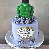 Hulk Birthday Cake Hulk is made out of modeling chocolate.