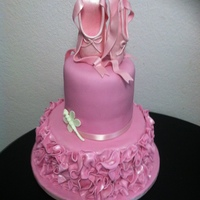 Ballerina Shoes This is a ballerina themed baby shower. All edible except for ribbon around the bottom of top tier.