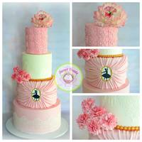 Ballerina Theme Cake  I made this cake for my daughter's 7th birthday ballerina theme party. She loves ballet and wanted everything ballerina on her...