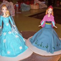 Kids Birthday Elsa is strawberry cake with strawberry icing, Anna is vanilla cake with vanilla icing. I have been doing this young lady's cake since...