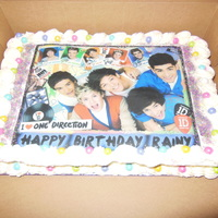 One Direction Buttercream with edible image
