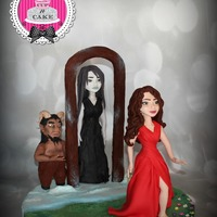 Twisted Fairytale Collaboration Here is my contribution for the Twisted fairytale cake collaboration. This piece is derived from The Snow Queen, the devil has made a magic...