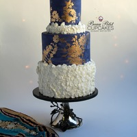 "Mystical Indigo ""Mystical Indigo"" - Created for an evening engagement party, the cake took the simple yet striking beauty of the indigo color to..."