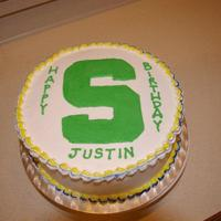 Spartan Cake Msu (Michigan State University) This cake was made for a MSU (Michigan State University) fan who's birthday happened to fall on the day that they played their rival...