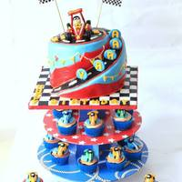 Vroom Vroom.... Lil Aarav Is One This time I had enough time to plan and make the toppers. I decided to make a very colorful cake for the young man who turned 1.The...