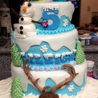 Frozen ! This was one of the first cakes I have ever done for someone else!Was so fun to create!