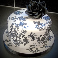 Black Rose Cake black rose cake and lace