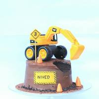 Construction Cake For My Lil Man's 3Rd Birthday Construction Cake for my lil man's 3rd Birthday