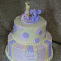Baby Shower Cake a baby animal baby shower cake