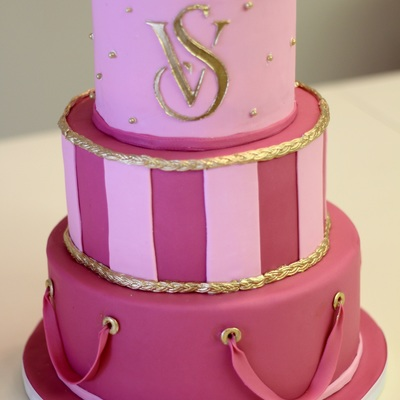 Victorias Secret Three Tier Custom Cake For Corporate