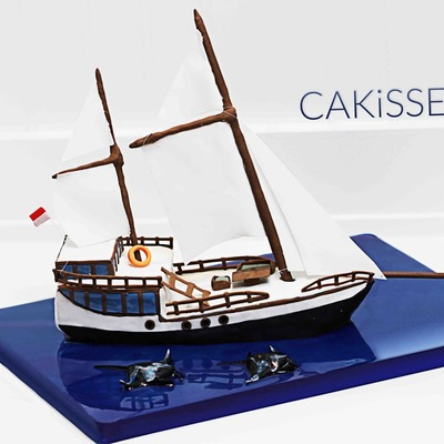 Sailboat Cake For A Groom