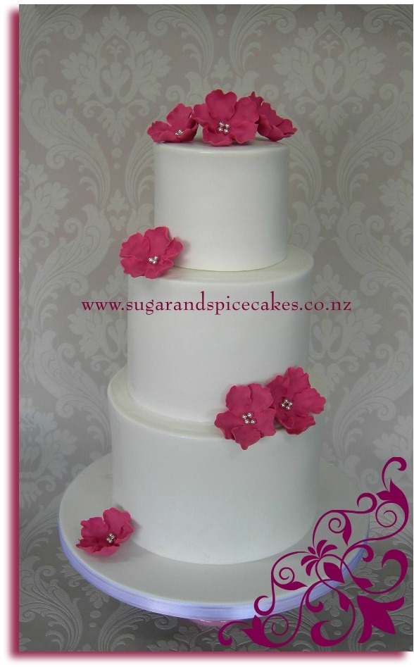 Bare Elegance Wedding Cake