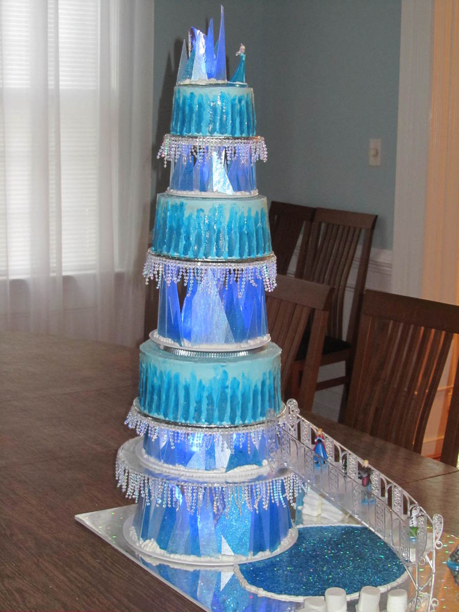 Elsa S Frozen Ice Castle Cake Cakecentral Com