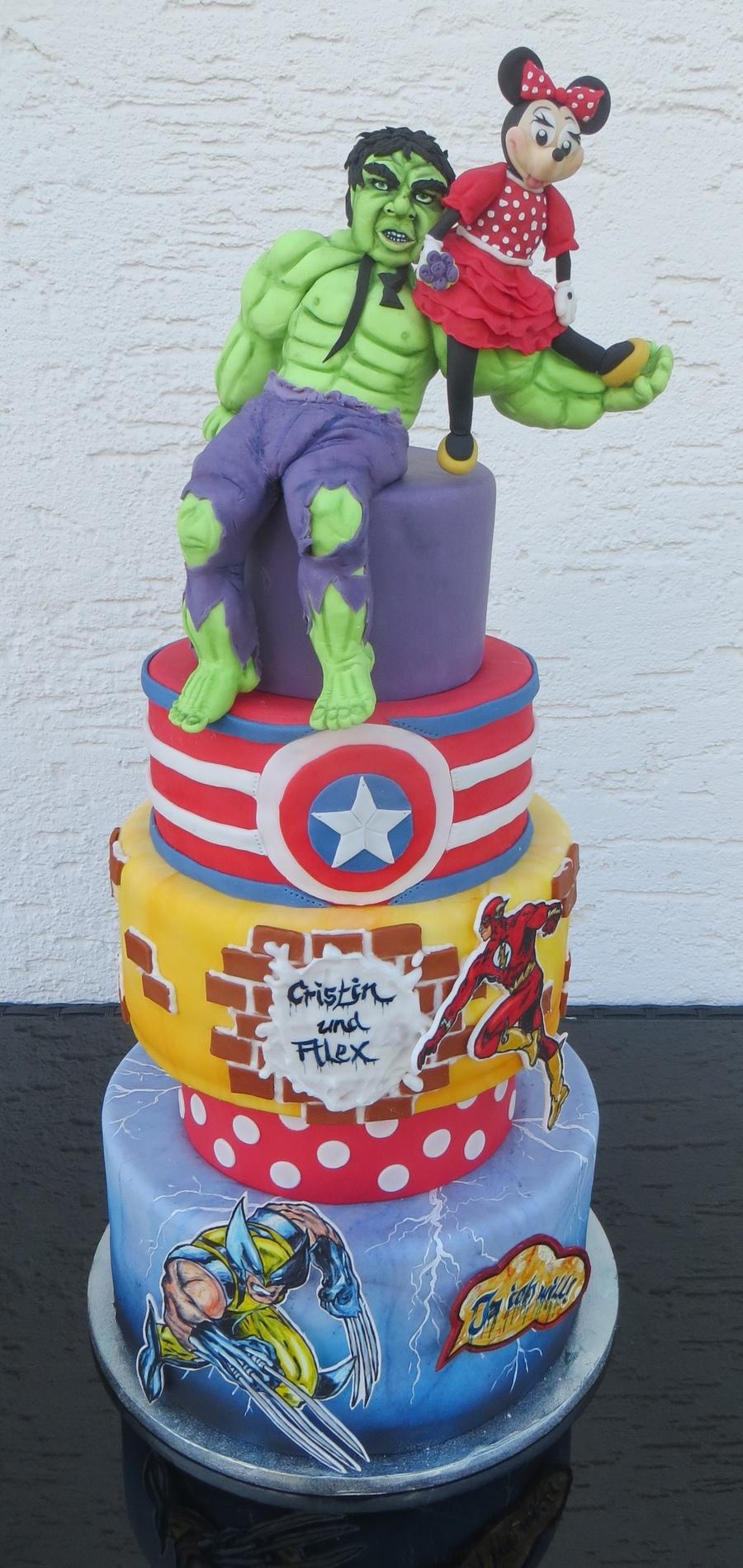Marvel Wedding Cake Cakecentral Com