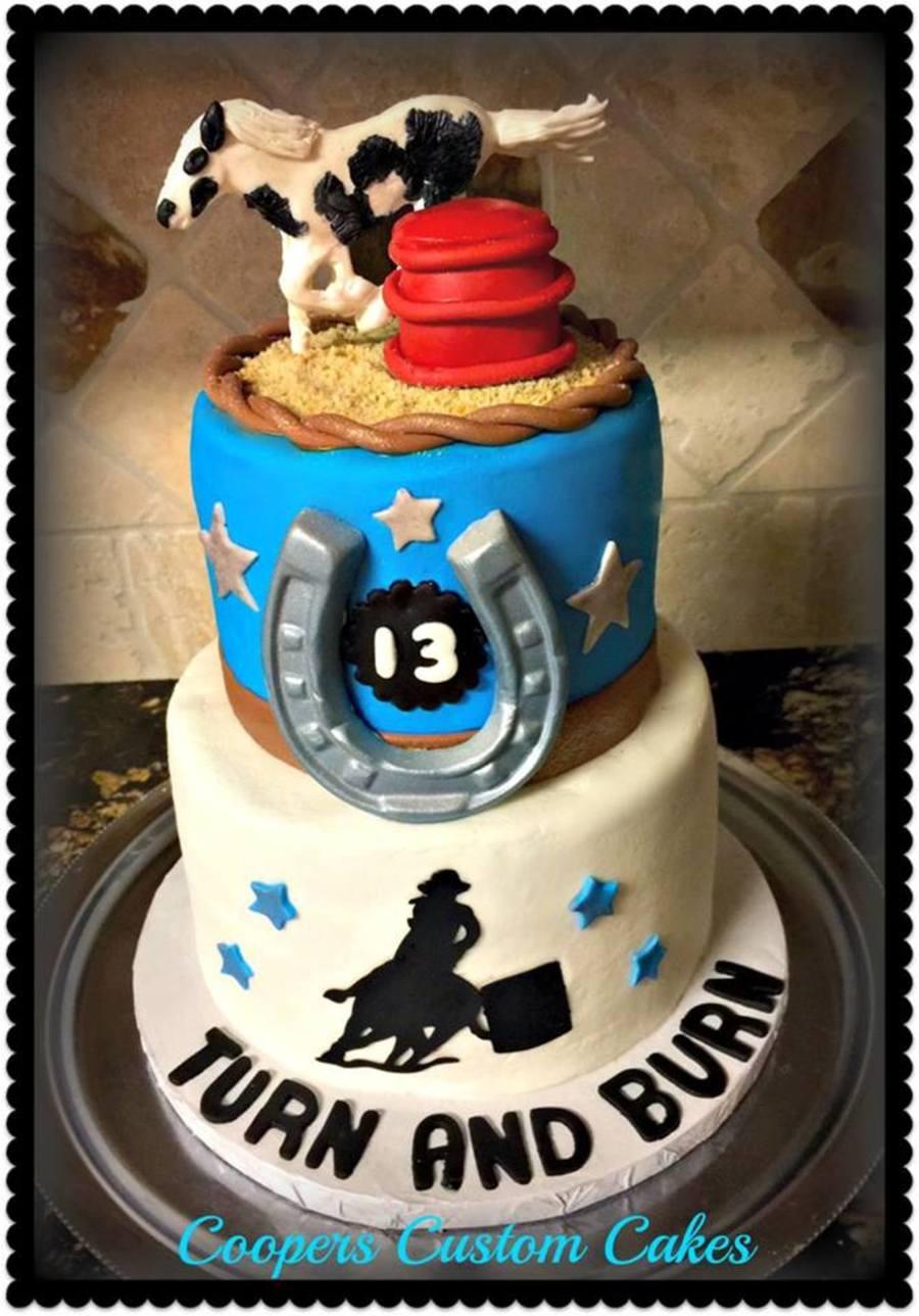 Turn And Burn Barrel Racing Cake Cakecentral Com