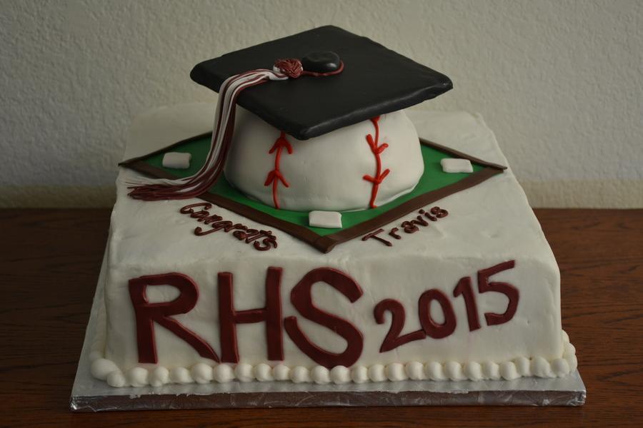 Baseball Themed Graduation Cake CakeCentralcom