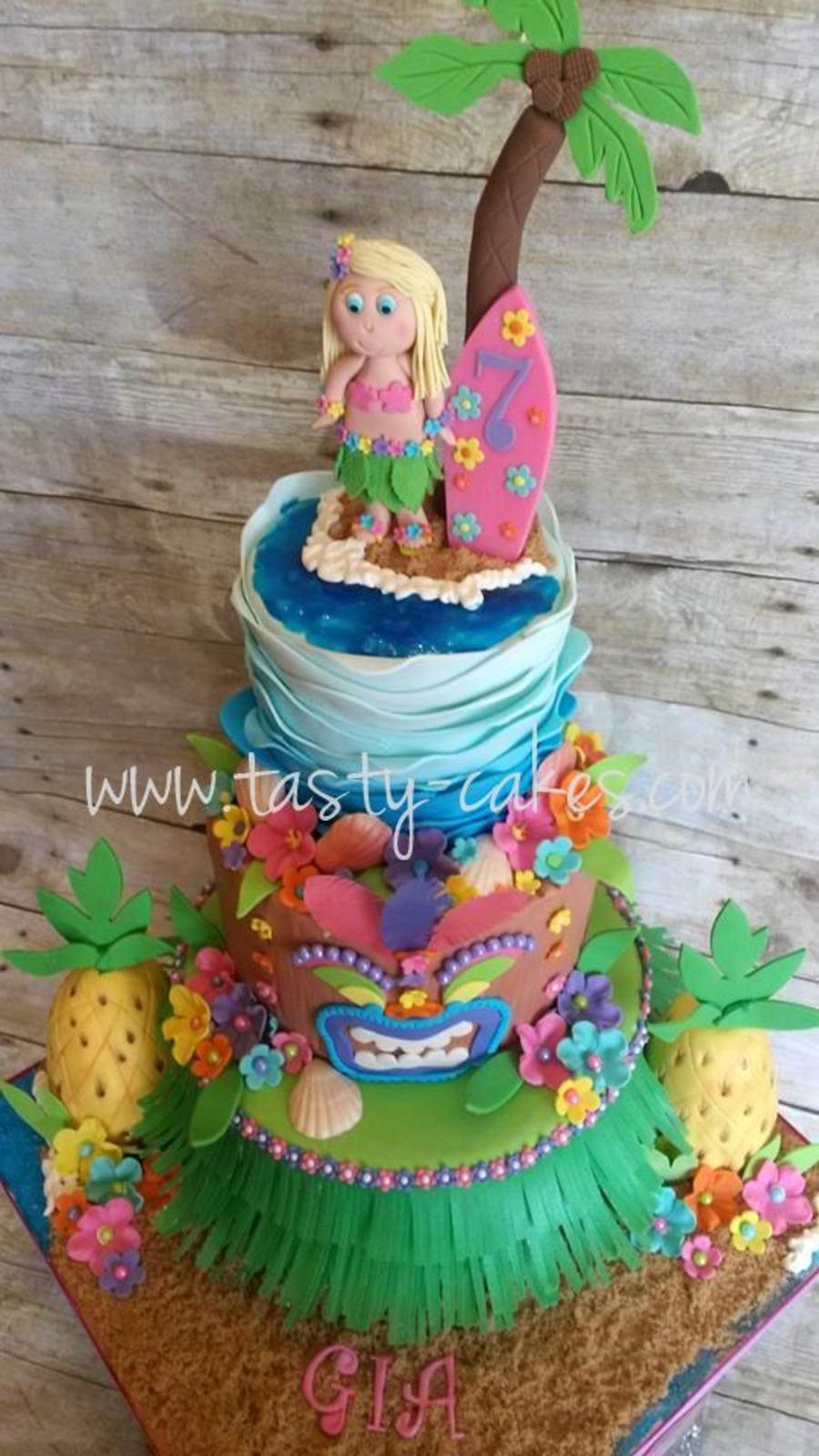 Birthday Luau Cake Cakecentral Com