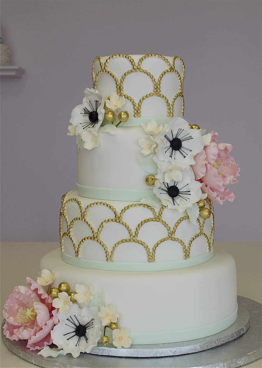 1920's Fondant Wedding Cake on Cake Central