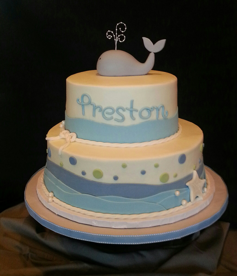 Spring Themed Baby Shower Cake