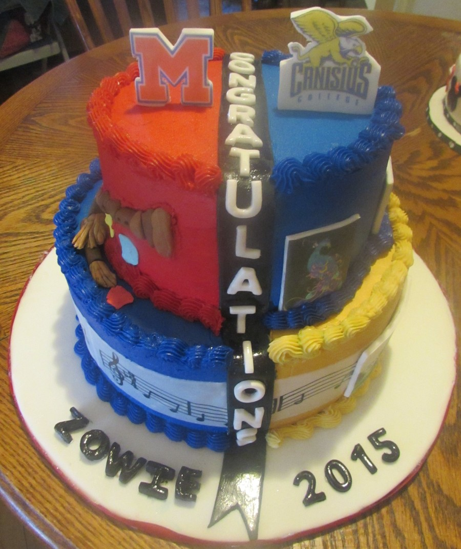 College Graduation Cake Images : High School/college Graduation Cake - CakeCentral.com