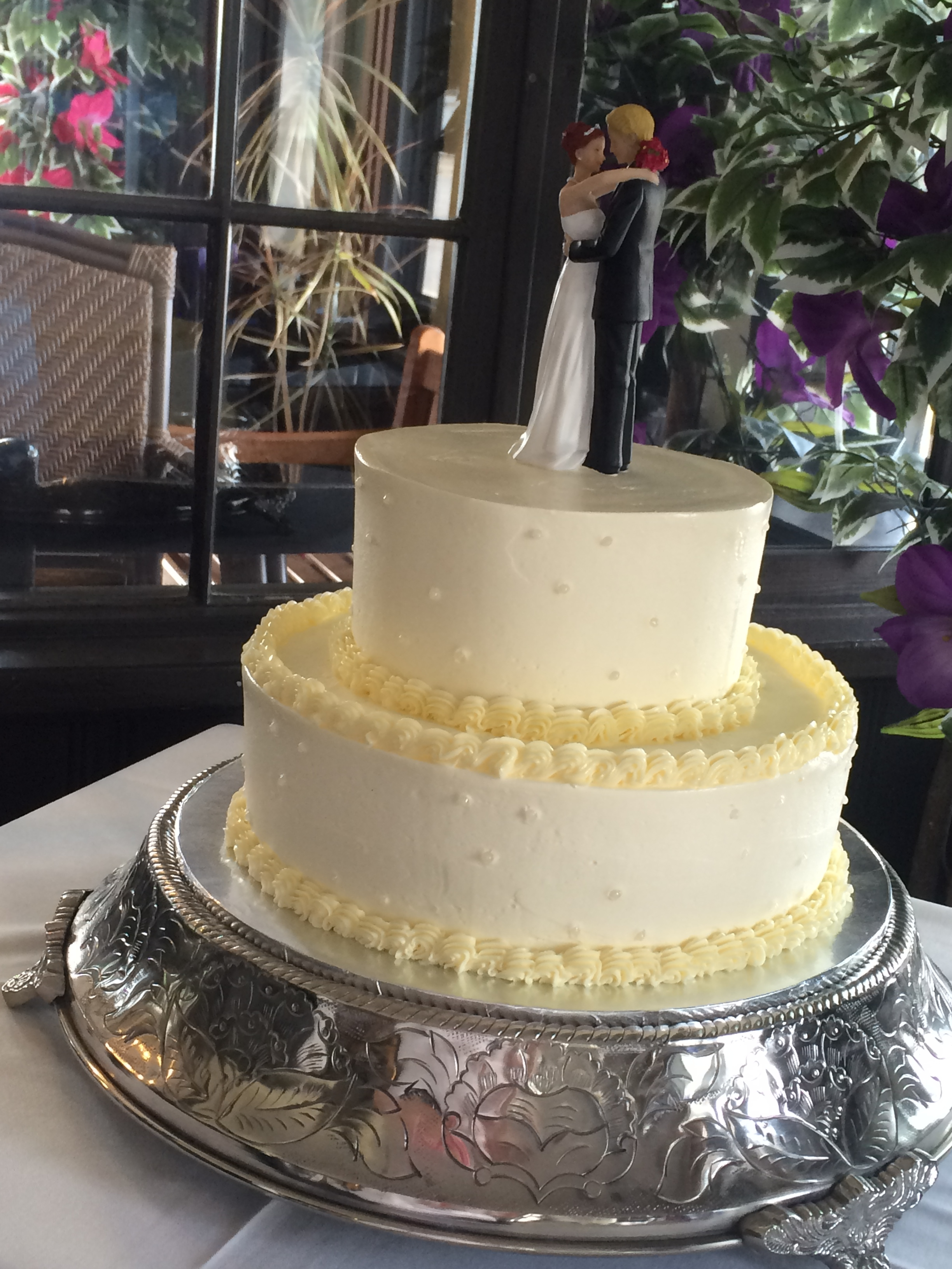 Swiss Buttercream Wedding Cake CakeCentral