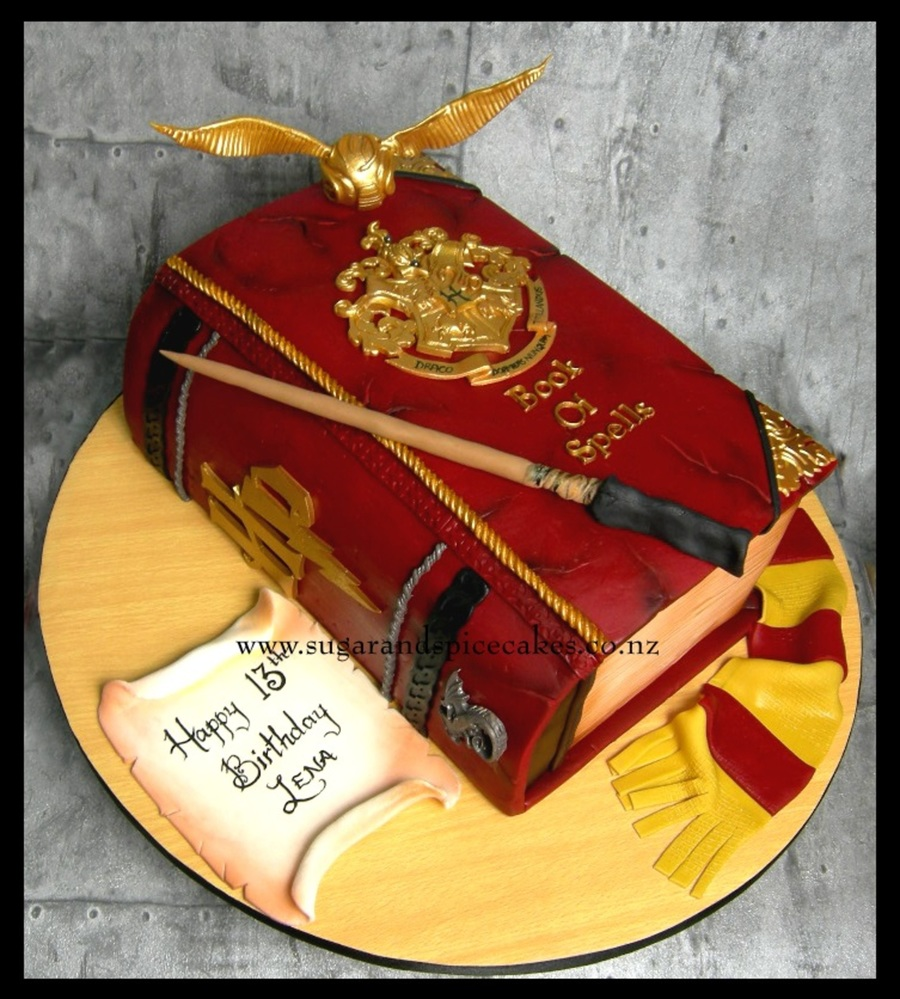 harry potter book of spells cake. Black Bedroom Furniture Sets. Home Design Ideas