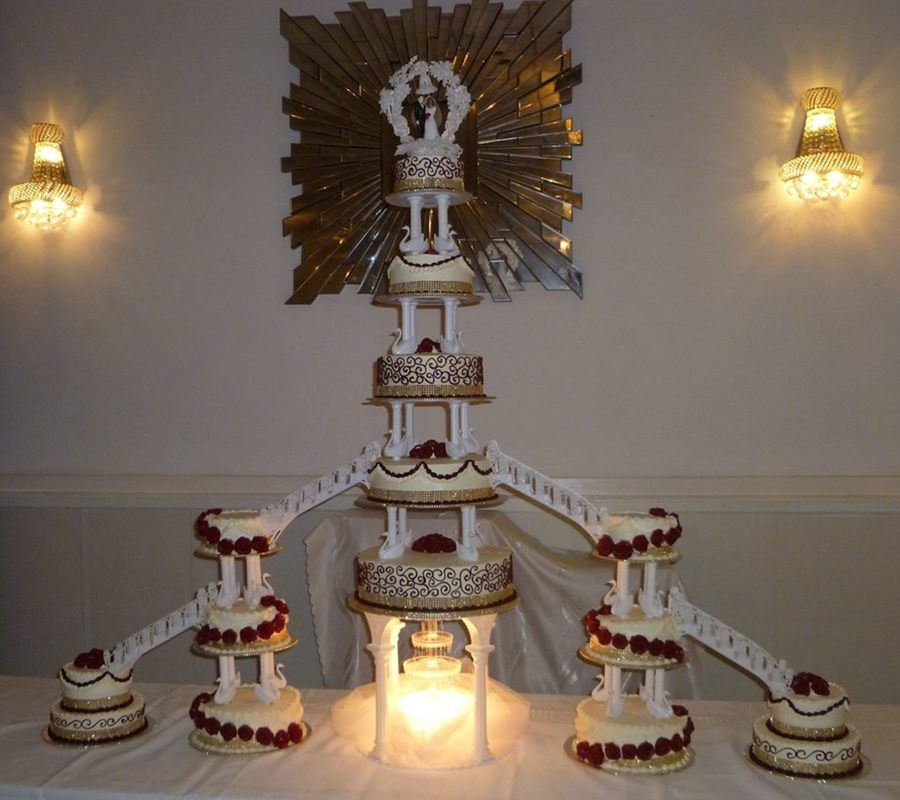 how to make a big wedding cake big wedding cake cakecentral 15791