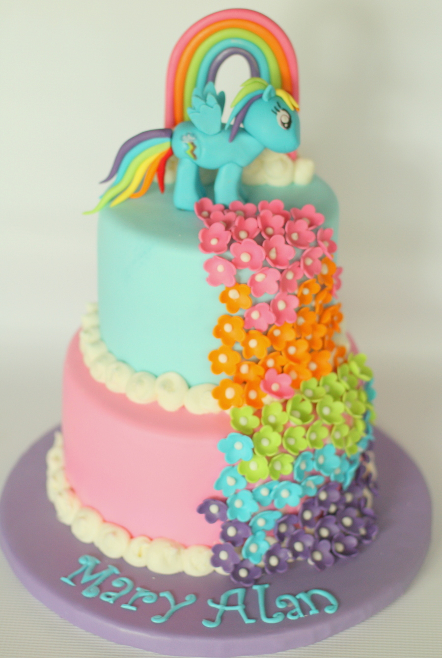 Terrific Rainbow Dash Cakecentral Com Funny Birthday Cards Online Eattedamsfinfo