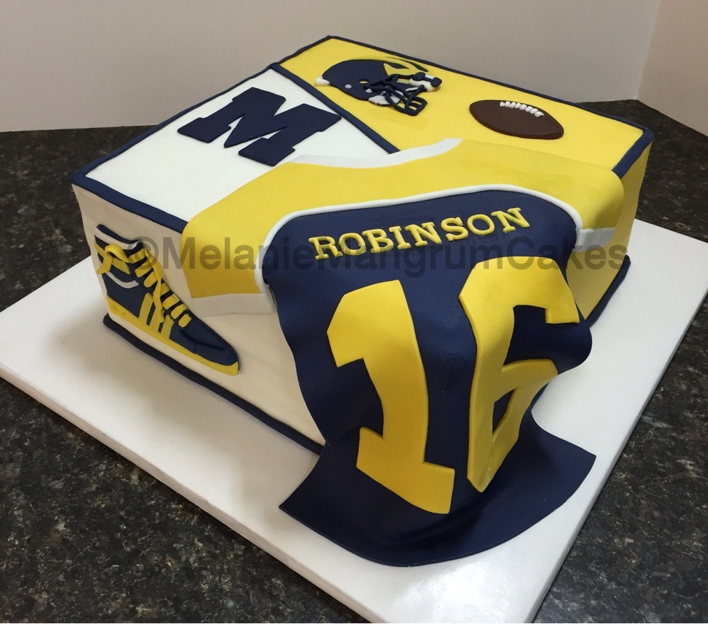 Cake Was Made For An Avid Michigan Fan