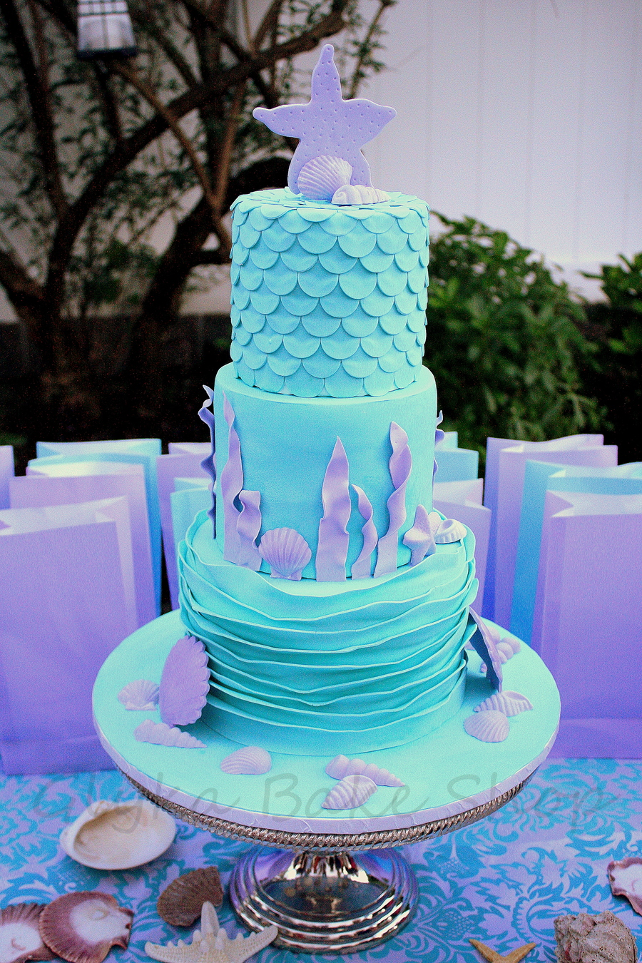 Under The Sea Mermaid Inspired Cake Cakecentral Com