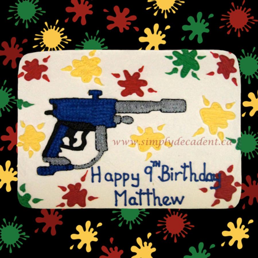 Awe Inspiring Paintball Theme Birthday Cake Cakecentral Com Birthday Cards Printable Giouspongecafe Filternl