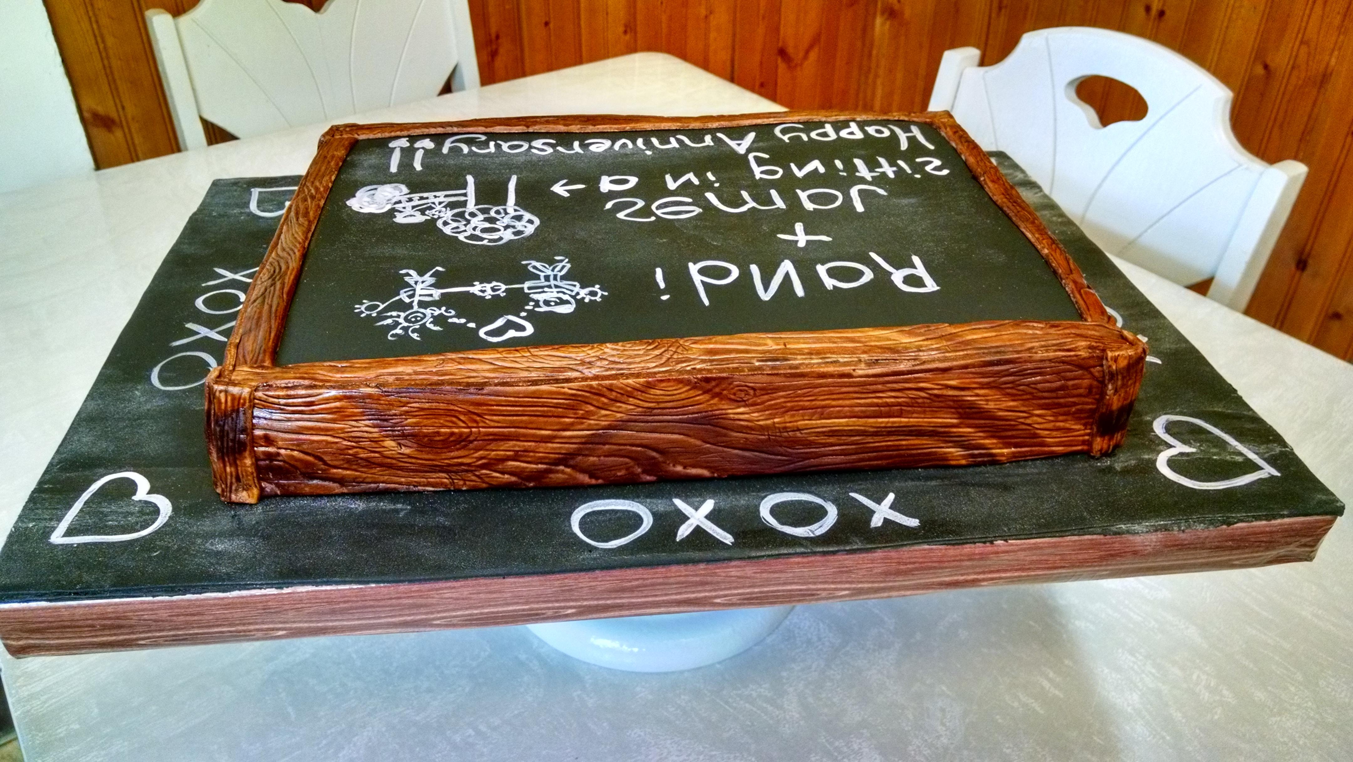 Chalkboard Cake 2-15-15 - CakeCentral com