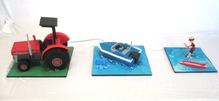 Tractor Pulling Ski Boat Pulling Waterskiier Cakecentral Com