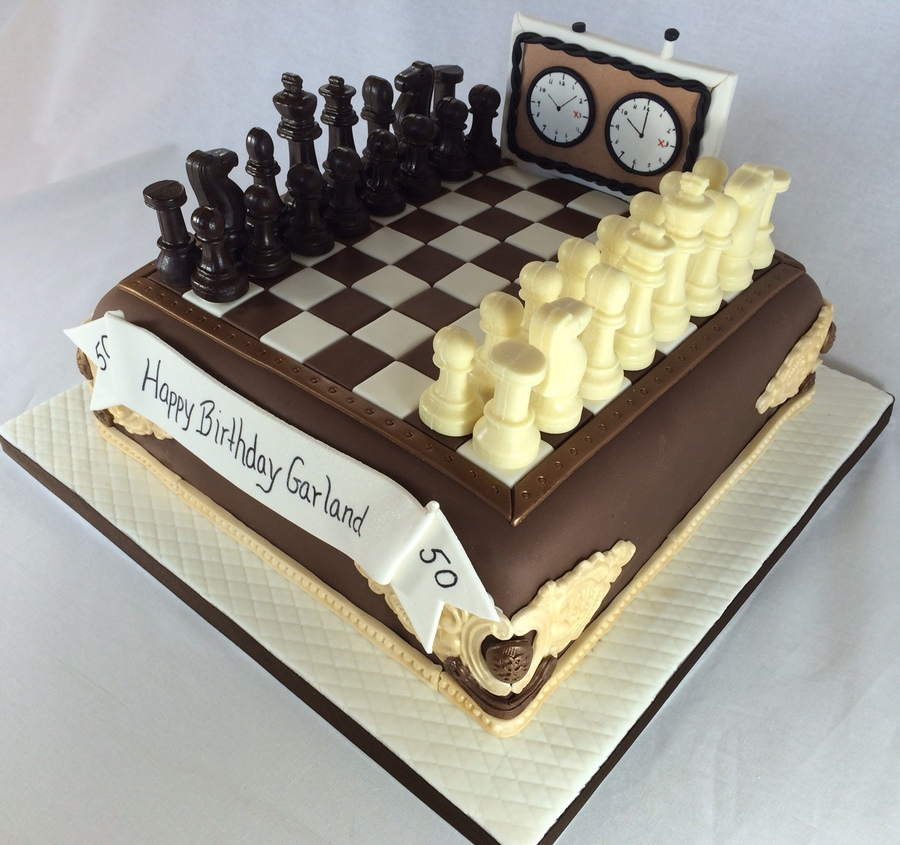 50th Anniversary Chess Cake Cakecentral Com