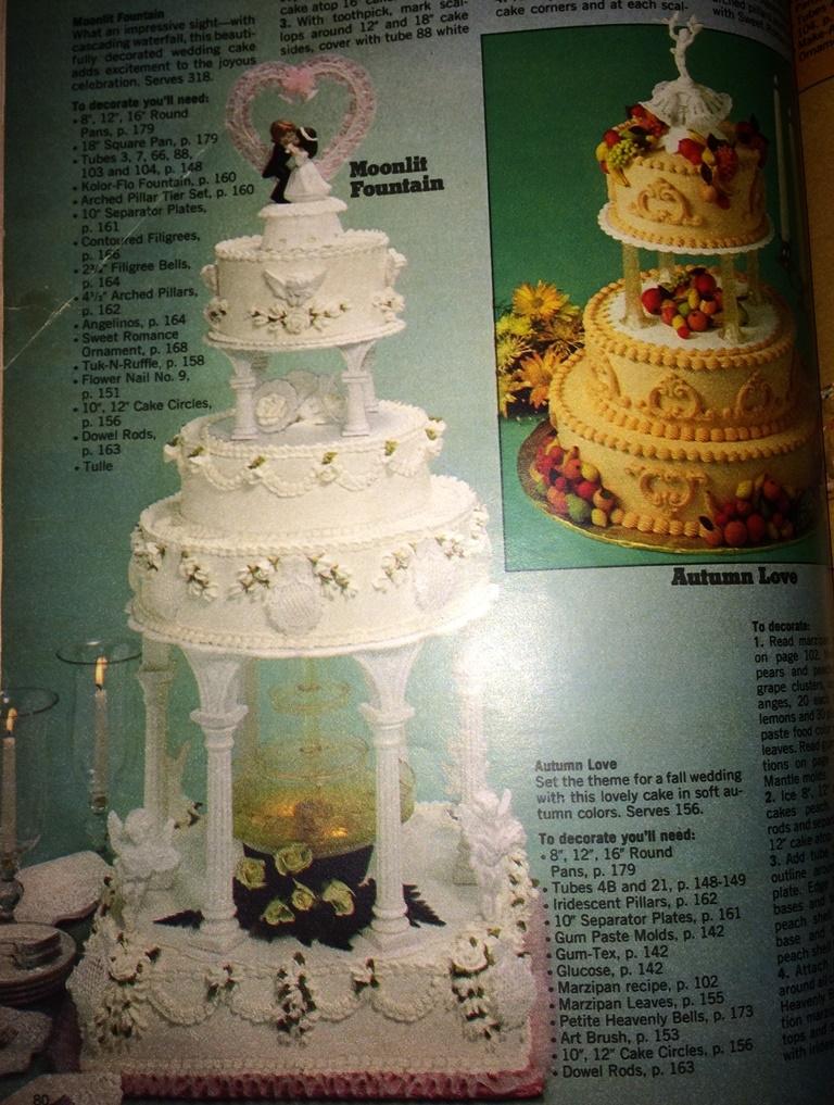 Wilton Fountain Wedding Cakes