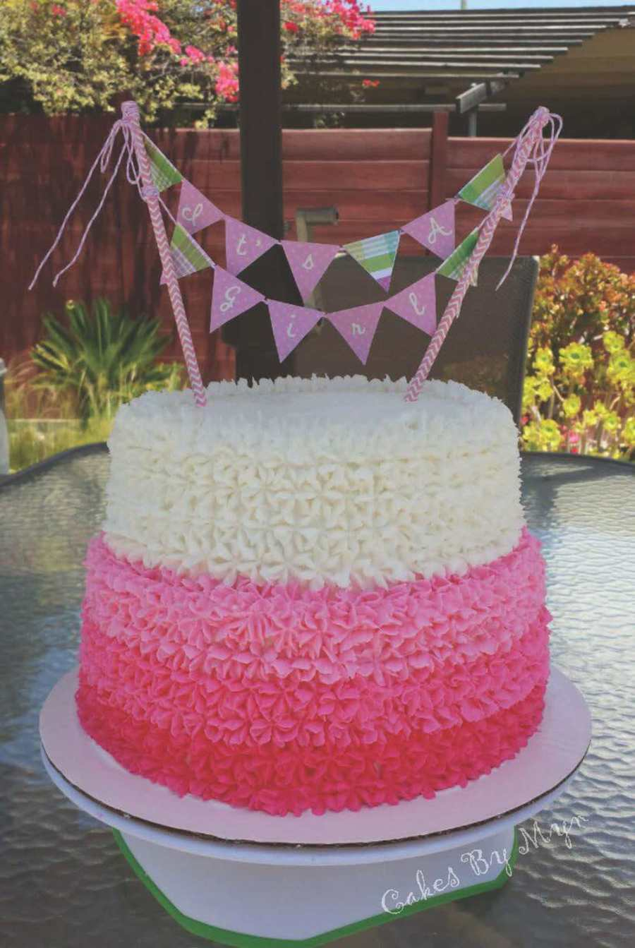 Pink Ombre Baby Shower Cake Cakecentral