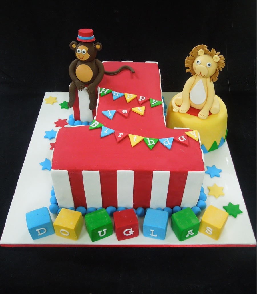 1St Birthday Circus Themed. on Cake Central